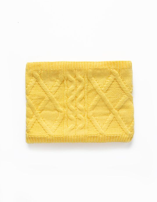 Knit Snood for Babies and Children, Yellow