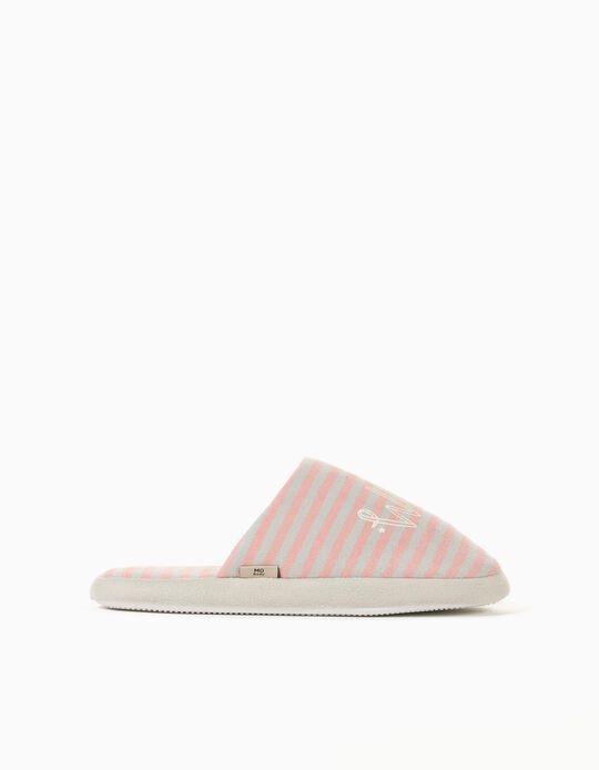 Padded Bedroom Slippers for Women, Grey