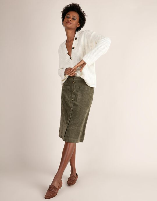 Corduroy pencil skirt