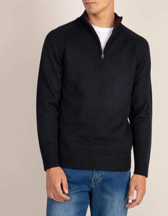 Camisola lisa de gola alta da linha Essentials