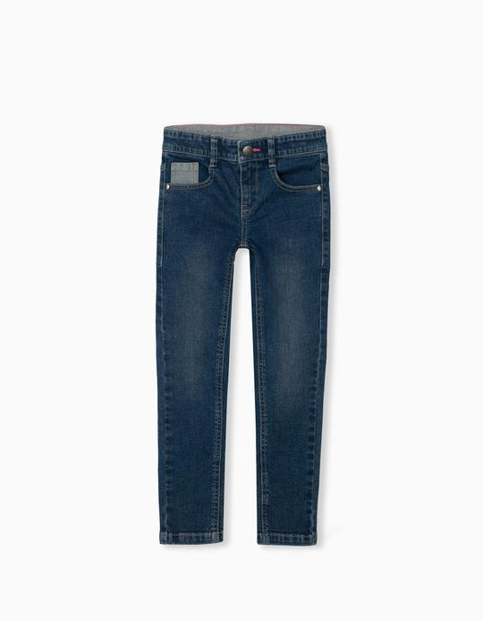 Jeans in Recycled Cotton, for Girls