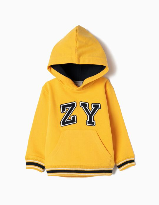 Hoodie for Baby Boys 'ZY', Yellow