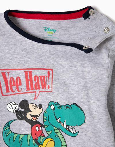 Pijama Manga Comprida e Calças Mickey & Dino
