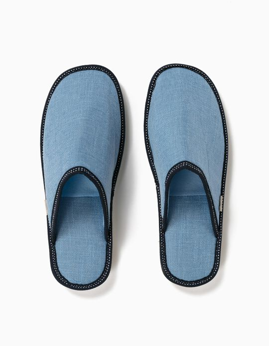 Textured Bedroom Slippers, Men