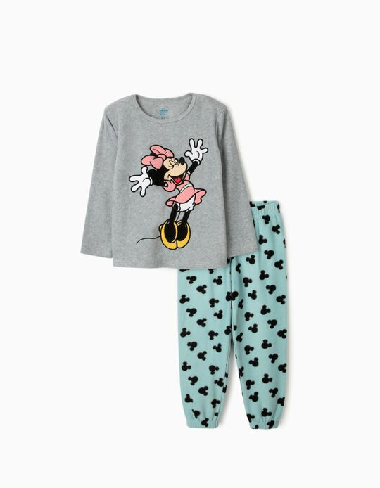 Polar Fleece Pyjamas for Girls 'Minnie Mouse', Grey/Blue
