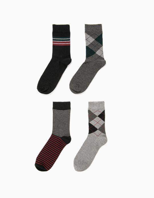Pack de 4 pares de meias diversas