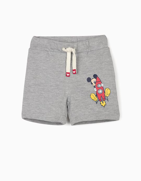 Sports Shorts for Baby Boys, 'Mickey Mouse', Grey