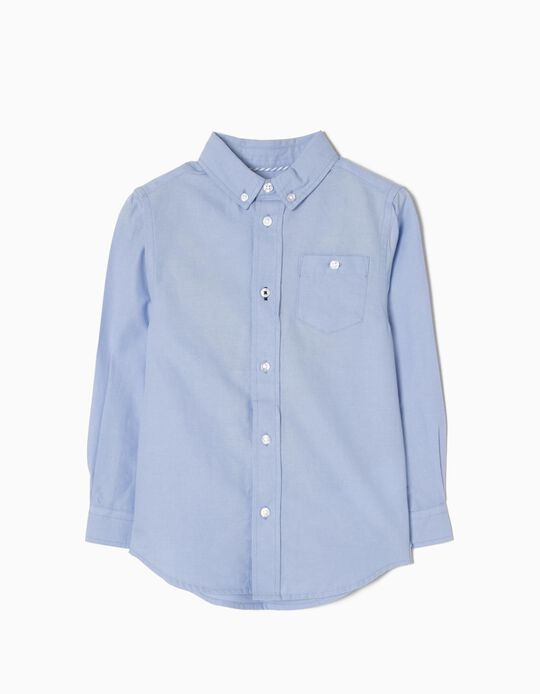Long-Sleeve Shirt for Boys, Blue