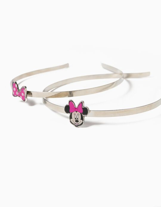 2 Bandoletes para Menina 'Minnie', Prateado