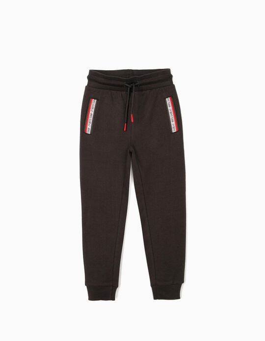 Joggers for Boys 'ZY Boys Team', Dark Grey