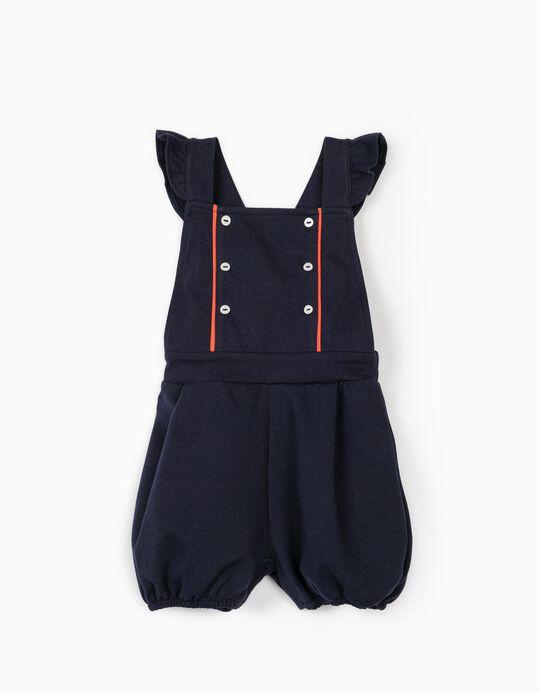 Macacão para Bebé Menina, Azul Escuro