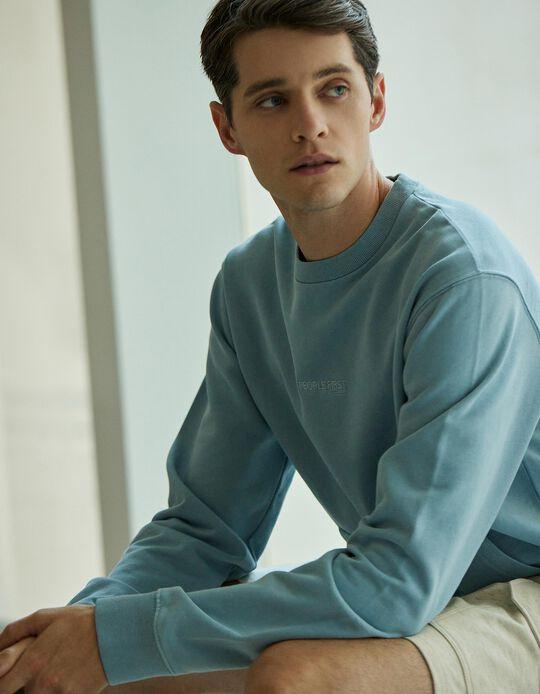 Sweatshirt for Men, Blue