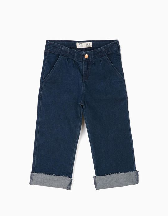 Dark Denim Trousers, Wide