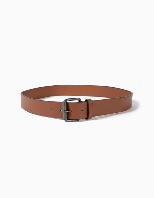 Plain belt with square buckle