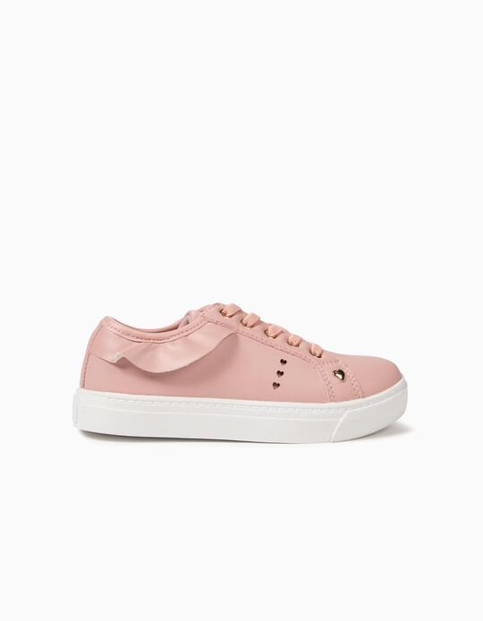 Sneakers for Girls Hearts and Ruffles, Pink