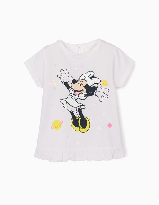 T-Shirt for Baby Girls, 'Minnie Mouse', White
