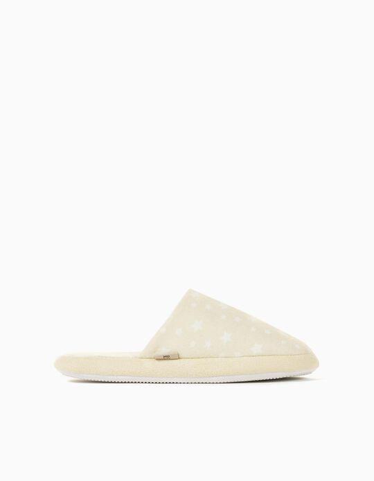 Padded Bedroom Slippers for Women, Beige