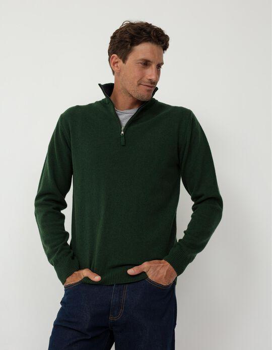 Baby Wool Jumper, Men, Green