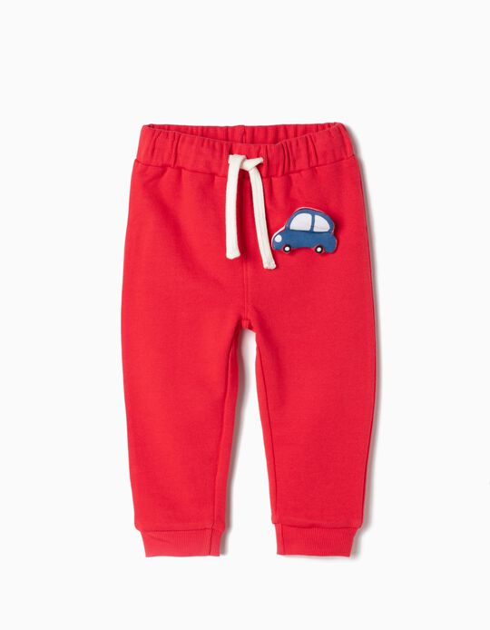 Joggers for Baby Boys 'Car', Red