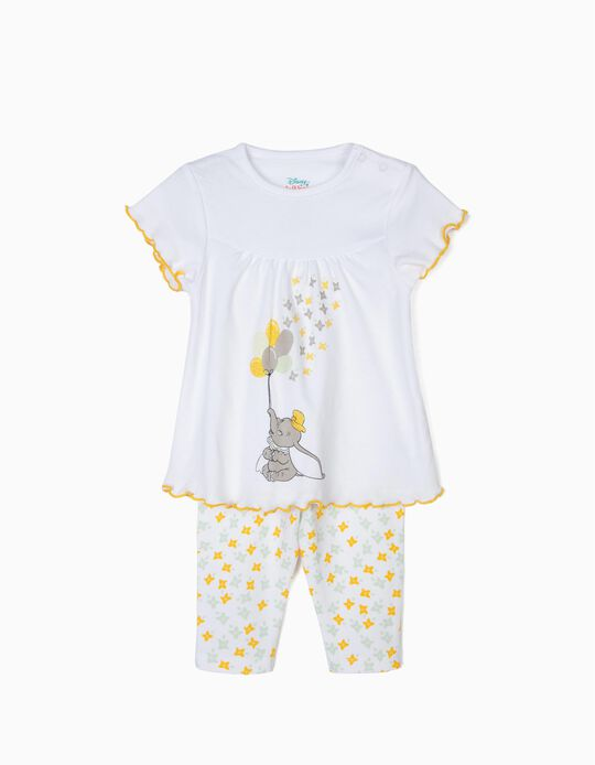 Pijama para Bebé Menina 'Dumbo', Branco