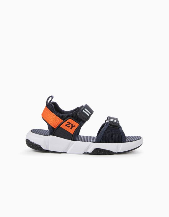 Chunky Sandals for Boys, Dark Blue