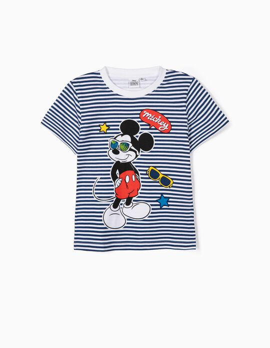 Striped Mickey Mouse T-Shirt