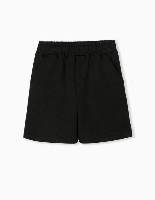 Jogger Shorts, Boys, Black