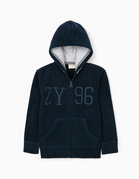 Polar Fleece Jacket for Boys 'ZY', Dark Blue