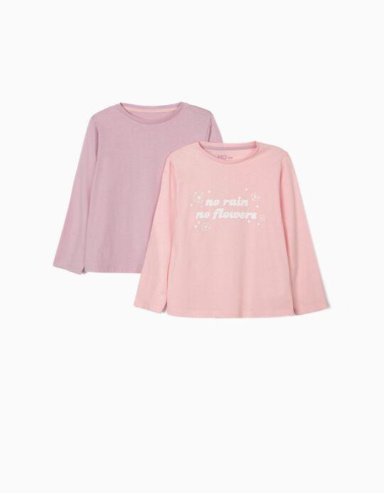 2 T-shirts de Manga Comprida