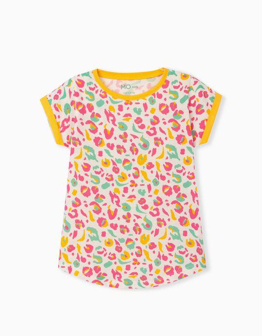T-shirt Padrão Colorido, Menina
