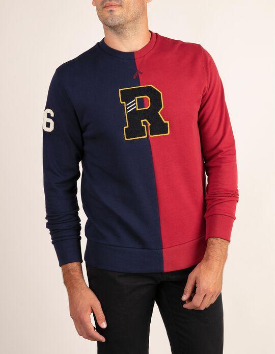 Sweatshirt bicolor Ivy Blue