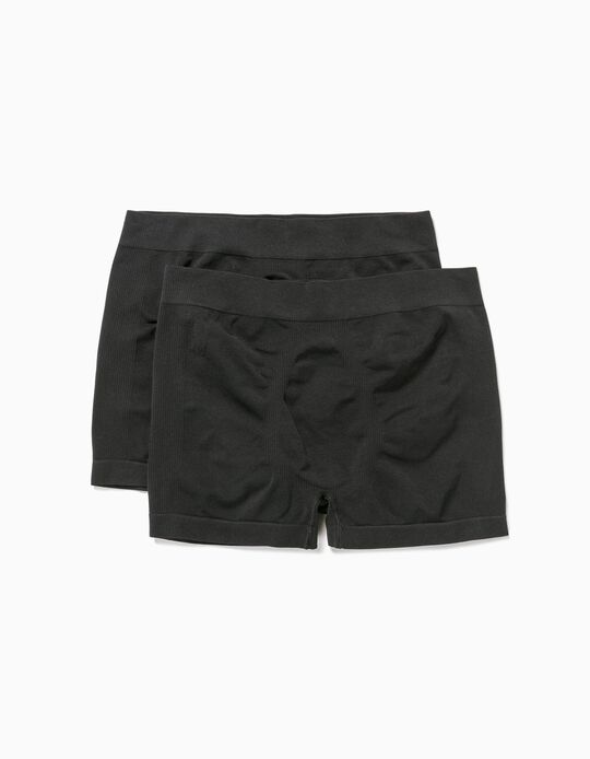 Pack of 2 Seamless Boxer Shorts