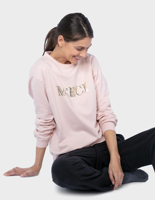 Carded Sweatshirt, 'Merci'