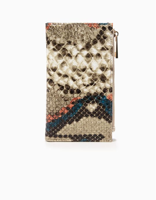 Snakeskin-effect Purse