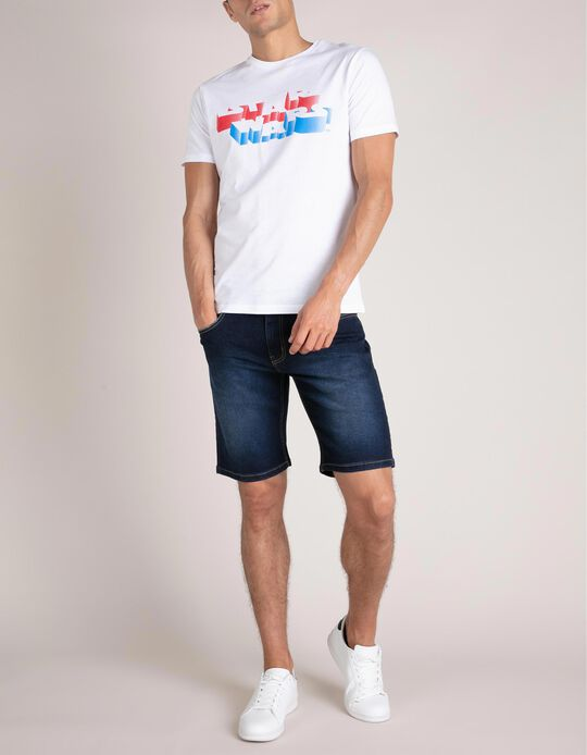 Five Pocket Denim Shorts