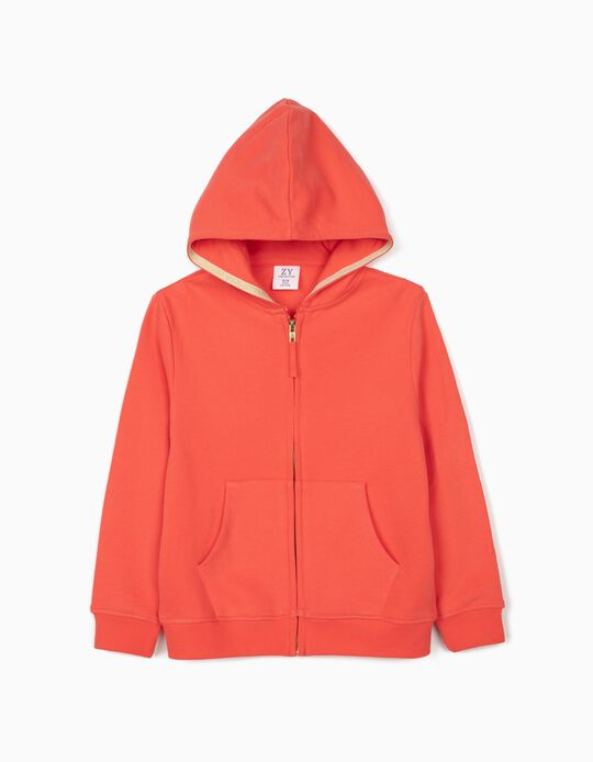 Hooded Jacket for Girls, Coral