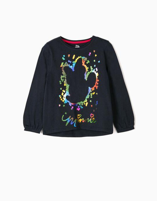 Long-sleeve Top for Girls 'Minnie', Dark Blue