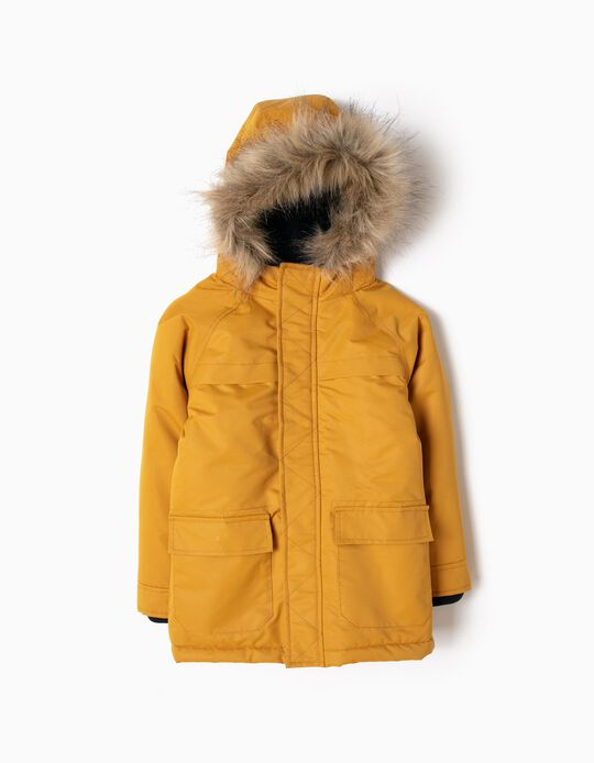 Yellow Parka with Hood