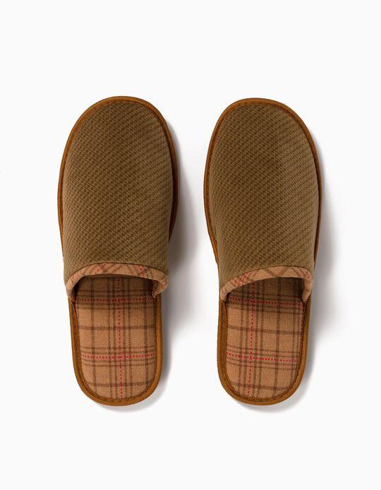 Chequered Bedroom Slippers, Men