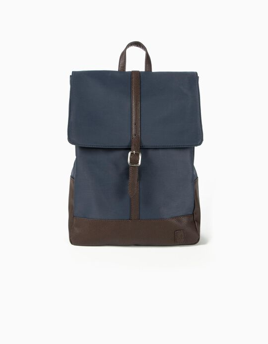 Backpack, Details in Synthetic Leather
