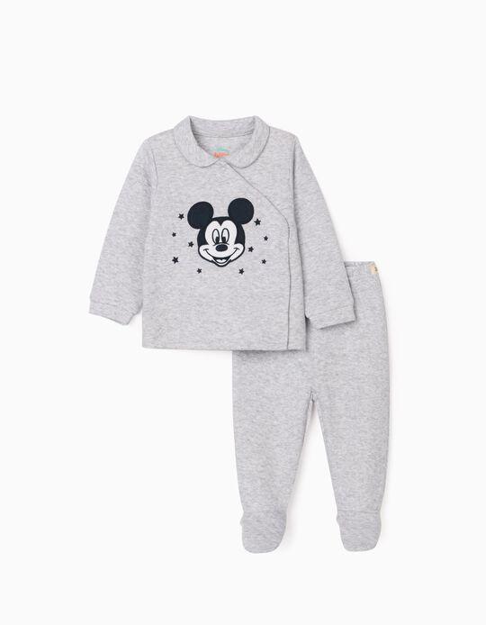 Pijama para Recém-Nascido 'Mickey', Cinza