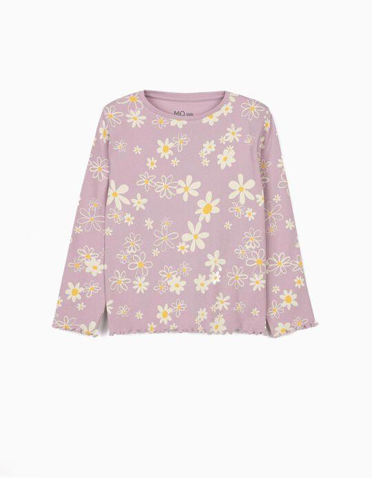 Long Sleeve Top, Flowers