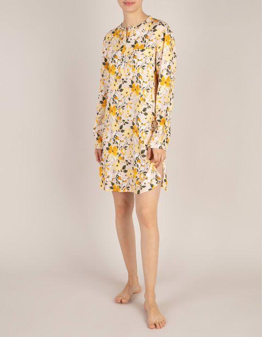 Camisa De Dormir Estampado Floral