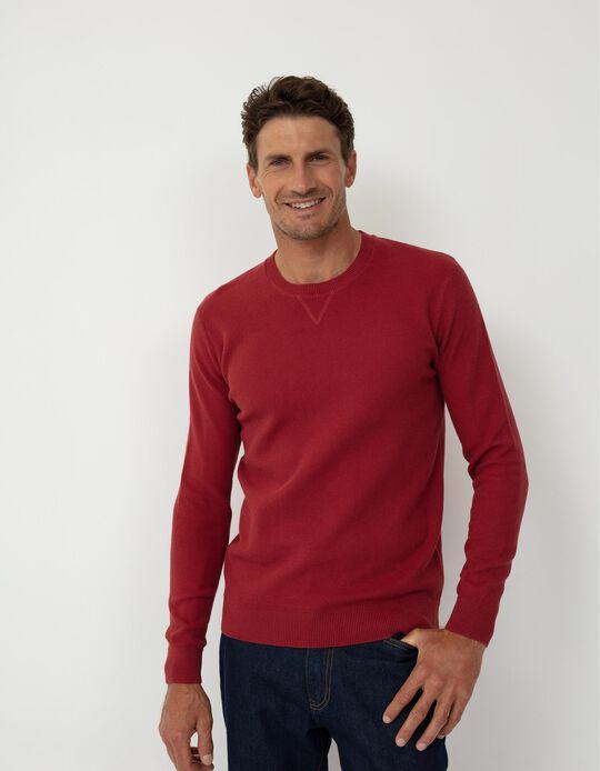 Textured Sweatshirt, Men, Red