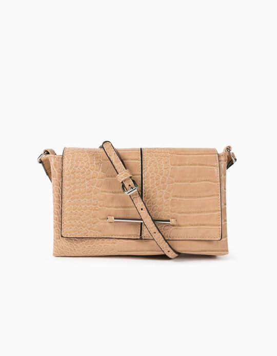 Croc-Effect Crossbody Bag