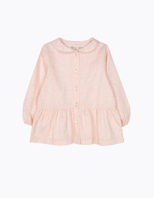 Blusa de Sarja Flores Rosa