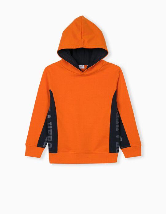 Hooded Sweatshirt for Children, Orange