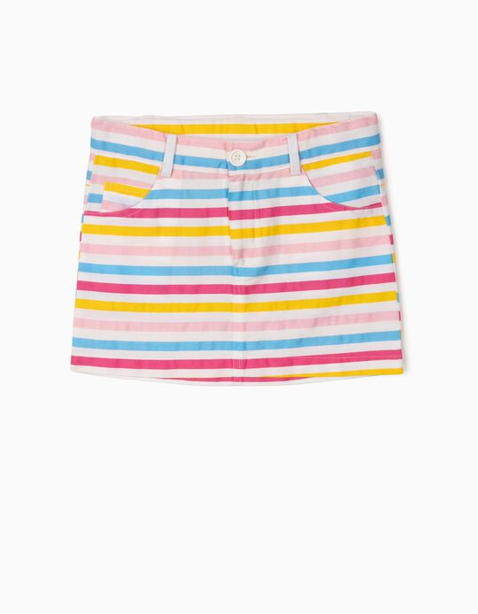 Striped Twill Skirt