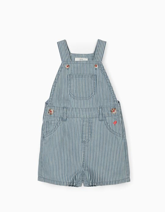 Striped Jumpsuit for Baby Boys, Blue/White