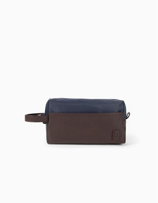 Toiletry Bag, Details in Synthetic Leather